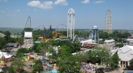 Arial view of Cedar Point