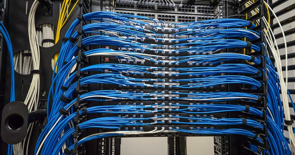 Telecommunications/Data cabling on main networking units